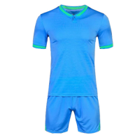1605 Customize Team Sky Blue Soccer Jersey Kit(Shirt+Short)