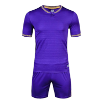 1605 Customize Team Purple Soccer Jersey Kit(Shirt+Short)
