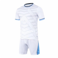 1612 Customize Team White Soccer Jersey Kit(Shirt+Short)