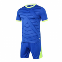 1612 Customize Team Blue Soccer Jersey Kit(Shirt+Short)