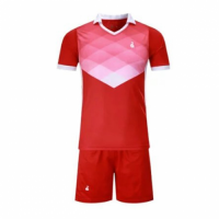 001 Customize Team Red Soccer Jersey Kit(Shirt+Short)