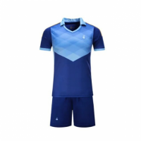 001 Customize Team Blue Soccer Jersey Kit(Shirt+Short)