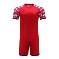 011 Customize Team Red Soccer Jersey Kit(Shirt+Short)