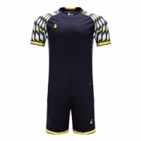 011 Customize Team Black&Yellow Soccer Jersey Kit(Shirt+Short)