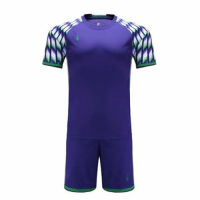 011 Customize Team Purple Soccer Jersey Kit(Shirt+Short)