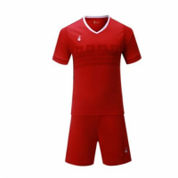 015 Customize Team Red Soccer Jersey Kit(Shirt+Short)