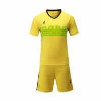 015 Customize Team Yellow Soccer Jersey Kit(Shirt+Short)