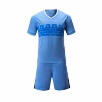 015 Customize Team Blue Soccer Jersey Kit(Shirt+Short)