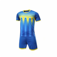 016 Customize Team Blue Soccer Jersey Kit(Shirt+Short)