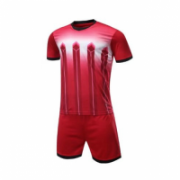 016 Customize Team Red Soccer Jersey Kit(Shirt+Short)
