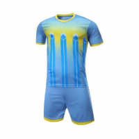 016 Customize Team Sky Blue Soccer Jersey Kit(Shirt+Short)