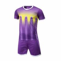 016 Customize Team Purple Soccer Jersey Kit(Shirt+Short)