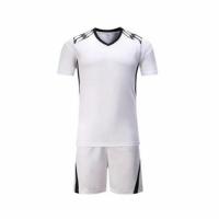 002 Customize Team White Soccer Jersey Kit(Shirt+Short)