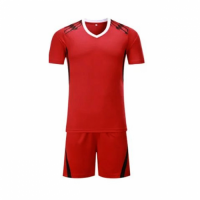 002 Customize Team Red Soccer Jersey Kit(Shirt+Short)
