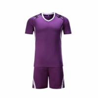 002 Customize Team Purple Soccer Jersey Kit(Shirt+Short)