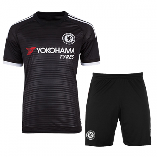 38d0ec57c96 Chelsea Away Black Jersey Kit(Shirt+Shorts) 2015-2016 Without Brand ...