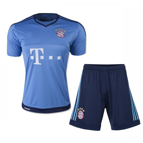 new concept 40d78 b6535 Bayren Munich Goalkeeper Blue Jersey Kit(Shirt+Shorts) 2015 ...