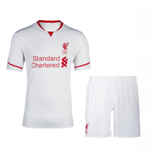 Liverpool Away White Jersey Kit(Shirt Shorts) 2015-2016 Without ...