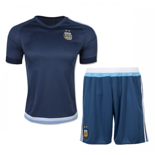 6d7f97f1de5 Argentina Away Navy Jersey Kit(Shirt+Shorts) 2015 Without Brand Logo ...