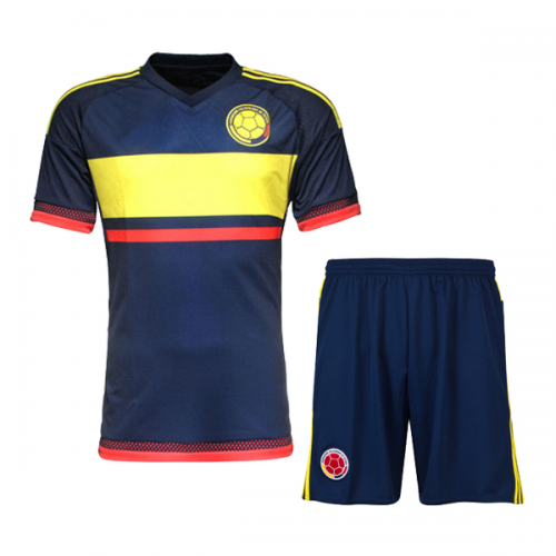 c9548a560 Colombia Away Navy Jersey Kit(Shirt+Shorts) 2015 Without Brand Logo ...
