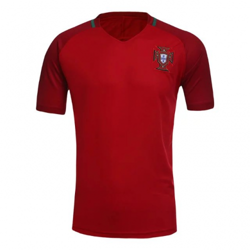 Portugal Home Red Jersey Kit Shirt Shorts 2016 Without Brand Logo