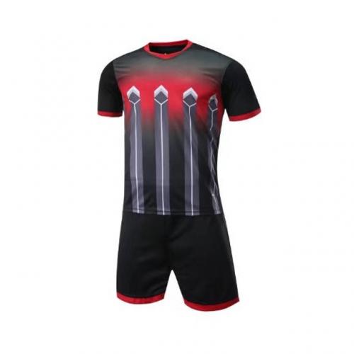 016 Customize Team Black Soccer Jersey Kit(Shirt+Short)  b1cfb351b
