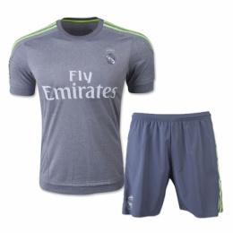 size 40 c9de3 423de Real Madrid Away Gray Jersey Kit(Shirt+Shorts) 2015-2016 ...