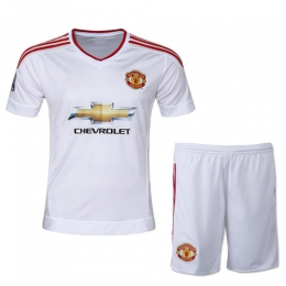Manchester United Away White Jersey Kit(Shirt+Shorts) 2015-2016 Without  Brand 9f7ad68dc