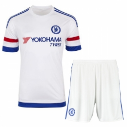 new concept ab165 8bcf0 Chelsea Away White Jersey Kit(Shirt+Shorts) 2015-2016 ...