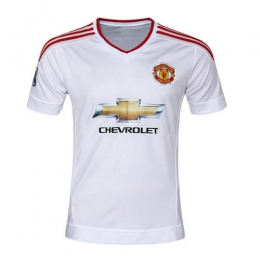 Manchester United Away White Jersey Shirt 2015-2016 Without Brand Logo 1a5259989