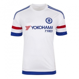 c61b40902 Chelsea Away White Jersey Shirt 2015-2016 Without Brand Logo ...